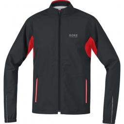 gore running wear veste essential gore tex active noir rouge