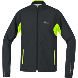 gore running wear veste essential gore tex active noir jaune