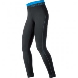 gore running wear collant long femme air long noir bleu