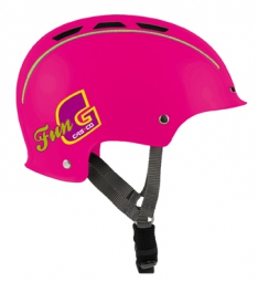 casque bol casco enfant fun generation rose