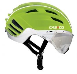 casco casco speedster con visera verde mate
