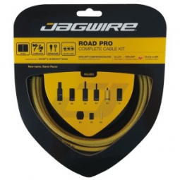 jagwire kit complet cables gaines road pro freins derailleurs gold medal