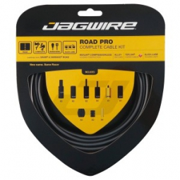 jagwire kit complet cables gaines road pro freins derailleurs ice gray
