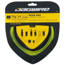 jagwire kit complet cables gaines road pro freins derailleurs organic green