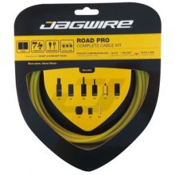 jagwire kit complet cables gaines road pro freins derailleurs jaune