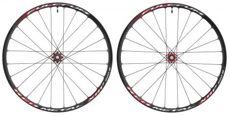 fulcrum paire de roues red metal xrp 27 5 axe 9 15mm av et mm ar disque 6t noir rouge