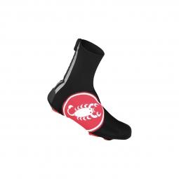 castelli paire de couvre chaussures diluvio noir rouge