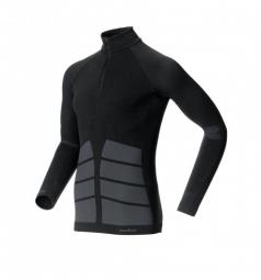 odlo maillot manches longues evolution warm zip noir