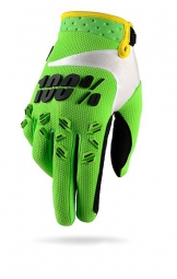 100 paire de gants airmatic lime vert