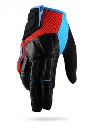100 paire de gants simi rouge cyan