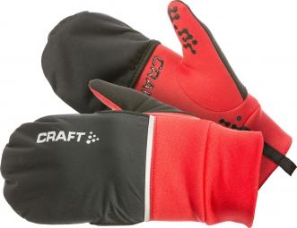 craft paire de gants hybrid weather rouge