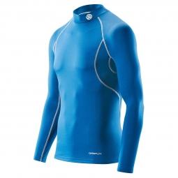 maillot thermique skins carbonyte homme bleu
