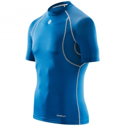 maillot thermique skins carbonyte homme bleu
