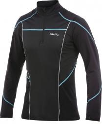 craft maillot manches longues performance zippe noir ocean