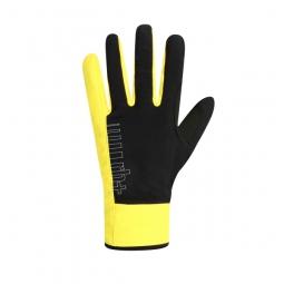 zero rh paire de gants longs fuego noir jaune fluo