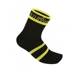 zero rh paire de chaussettes andro noir jaune