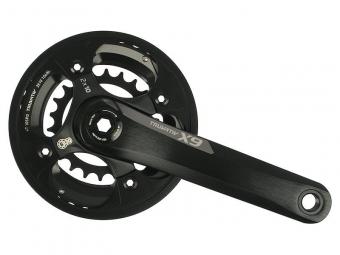 sram pedalier x9 bb30 2 2 24 38 avec bash 10v gris sans boitier