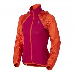 odlo veste coupe vent femme 3en 1 zeroweight rose orange