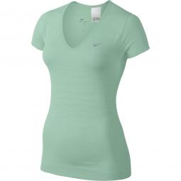 nike t shirt dri fit knit vert femme