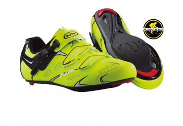 chaussures route northwave sonic srs 2015 jaune fluo noir