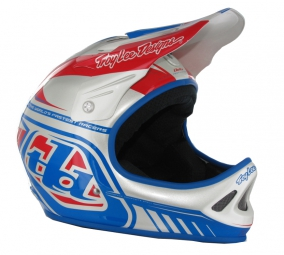 casque integral troy lee designs d2 delta argent bleu