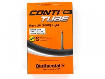 continental chambre a air 700x20 25 light valve presta 60 mm ref 0181831
