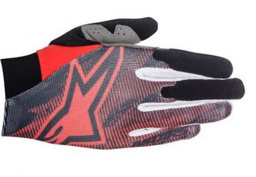 alpinestars paire de gants aero rouge