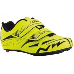 chaussures route northwave jet evo 2015 jaune fluo