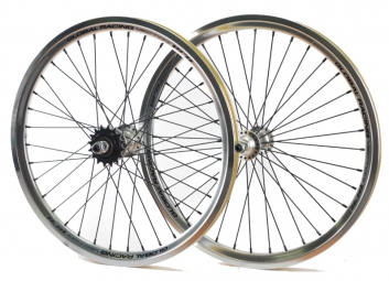 global racing paire de roues vector pro argent