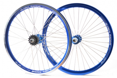 global racing paire de roues vector pro bleu