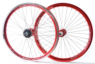 global racing paire de roues vector pro rouge