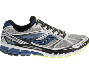 saucony chaussures homme guide 8 gris bleu