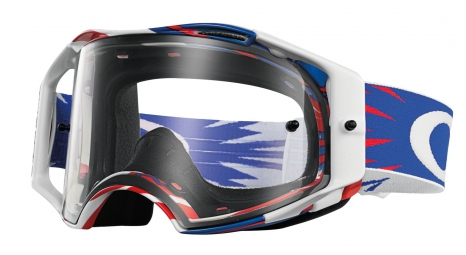 oakley masque airbrake mx high voltage rwb ecran transparent ref oo7046 11