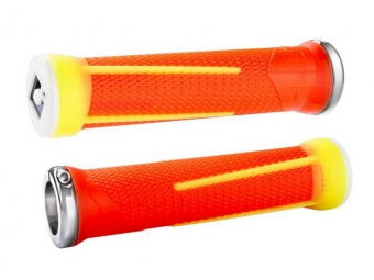 odi paire de grips ag 1 lock on orange jaune