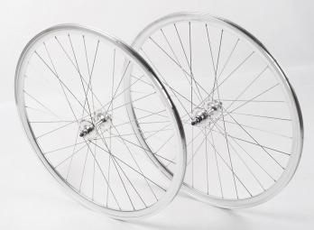 shroom paire de roues deep section chrome
