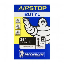 michelin chambre a air butyl c2 26x1 00 1 50 schrader