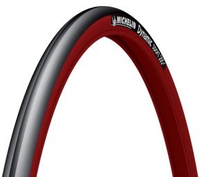 michelin pneu dynamic sport 700 x 23 rigide rouge