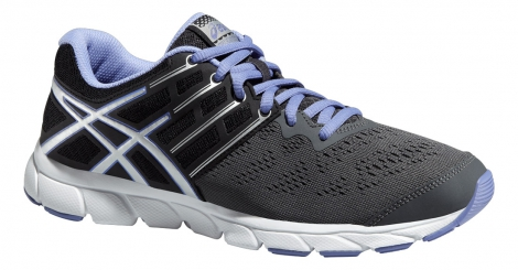 asics chaussures gel evation gris noir femme