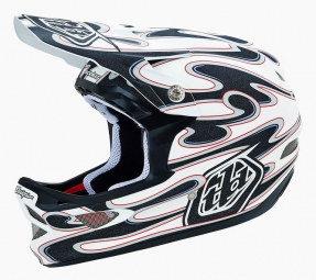 casque integral troy lee designs d3 squirt composite blanc noir