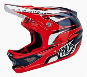 casque integral troy lee designs d3 evo composite rouge