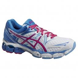 asics chaussures gel pulse 6 bleu blanc femme