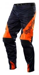 troy lee designs pantalon sprint solid noir orange