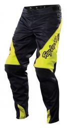 troy lee designs pantalon sprint solid noir jaune