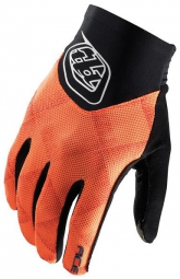 troy lee designs paire de gants longs ace noir orange