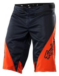 troy lee designs short sprint solid noir orange