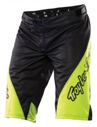troy lee designs short sprint solid noir jaune