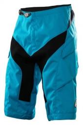 troy lee designs short moto solid bleu