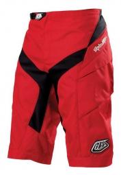 troy lee designs short moto solid rouge