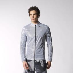 adidas veste adizero climaproof homme gris