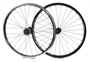 global racing paire de roues vector expert noir
